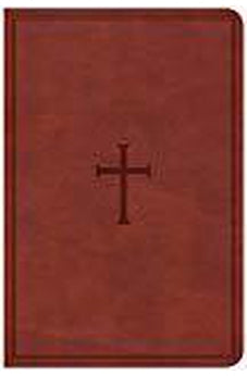 CSB Compact Ultrathin Bible, Brown LeatherTouch, Indexed 9781433651342
