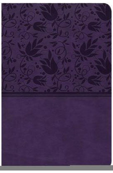 CSB Compact Ultrathin Bible, Purple LeatherTouch 9781433651359