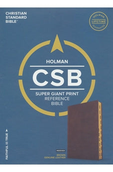 CSB Super Giant Print Reference Bible, Brown Genuine Leather, Indexed 9781433651533