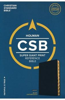 CSB Super Giant Print Reference Bible, Black LeatherTouch, Indexed 9781433651595