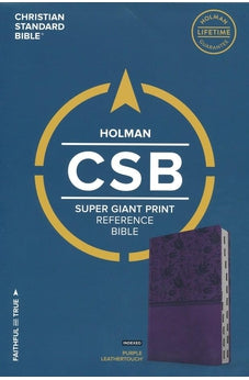 CSB Super Giant Print Reference Bible, Purple LeatherTouch, Indexed 9781433651632