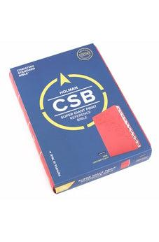 CSB Super Giant Print Reference Bible, Pink LeatherTouch, Indexed 9781433651656