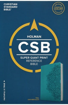 CSB Super Giant Print Reference Bible, Teal LeatherTouch 9781433651663