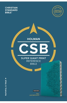 CSB Super Giant Print Reference Bible, Teal LeatherTouch, Indexed 9781433651670