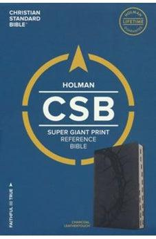 CSB Super Giant Print Reference Bible, Charcoal LeatherTouch 9781433651687