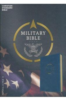 Image of CSB Military Bible, Royal Blue LeatherTouch 9781433651786