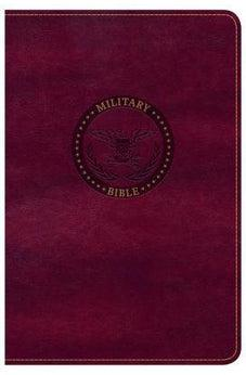 CSB Military Bible, Burgundy LeatherTouch 9781433651793