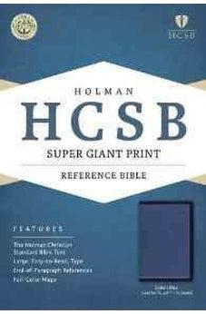 HCSB Super Giant Print Reference Bible, Cobalt Blue LeatherTouch, Indexed 9781433691553