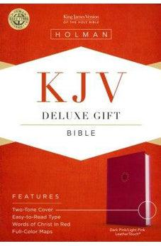 KJV Deluxe Gift Bible, Pink/Light Pink LeatherTouch 9781462747481