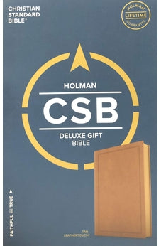 CSB deluxe gift Bible tan leathertouch 9781462749331