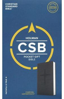 CSB Pocket Gift Bible, Charcoal LeatherTouch 9781462753611