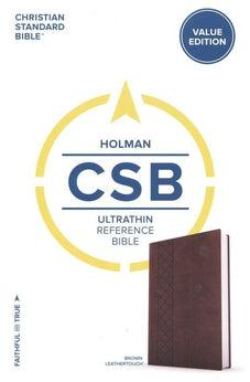 CSB Ultrathin Reference Bible, Value Edition, Brown LeatherTouch 9781462766024