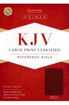 KJV Large Print Ultrathin Reference Bible, British Tan LeatherTouch, Black Letter Edition 9781462779826