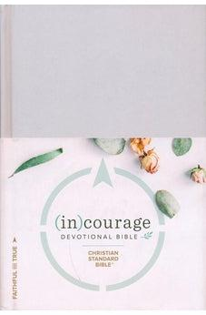 Image of CSB (in)courage Devotional Bible, Gray Hardcover 9781462785032