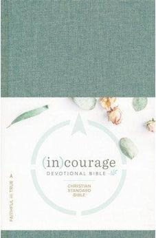 CSB (in)courage Devotional Bible, Green Cloth Over Board 9781462785049