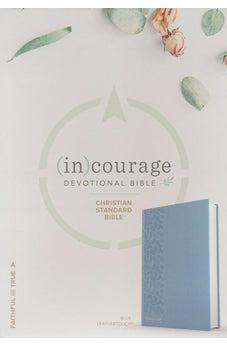 CSB (in)courage Devotional Bible, Blue LeatherTouch 9781462785056
