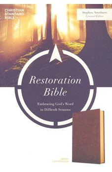 CSB Restoration Bible, Brown LeatherTouch 9781462796915