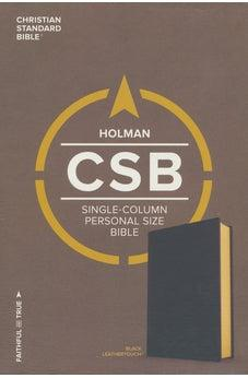 CSB Single-Column Personal Size Bible, Black LeatherTouch 9781535905442