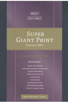 NKJV Super Giant Print Reference Bible, Classic Black LeatherTouch, Indexed 9781535905602