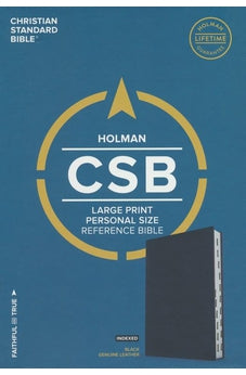CSB Large Print Personal Size Reference Bible, Black Genuine Leather, Indexed 9781535905794