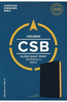 CSB Super Giant Print Reference Bible, Black Genuine Leather 9781535905824