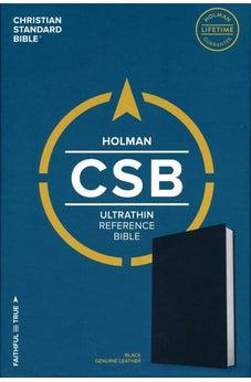 CSB Ultrathin Reference Bible, Black Genuine Leather 9781535905855