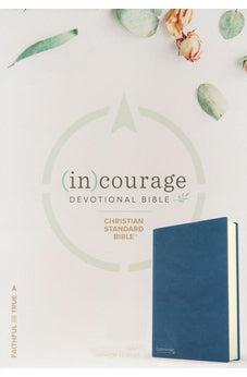 CSB (In)Courage Devotional Bible, Navy Genuine Leather 9781535924948
