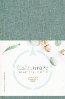 CSB (in)courage Devotional Bible, Green Cloth Over Board Indexed 9781535924955