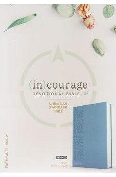 CSB (in)courage Devotional Bible, Blue LeatherTouch Indexed 9781535924962