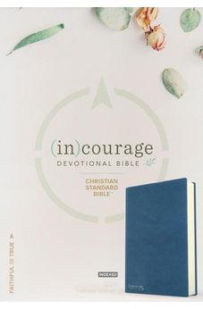 CSB (in)courage Devotional Bible, Navy Genuine Leather Indexed 9781535924979