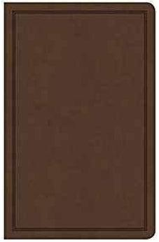 CSB Deluxe Gift Bible, Brown LeatherTouch 9781535925495