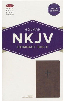 NKJV Compact Bible, Value Edition Brown Leathertouch 9781535925648