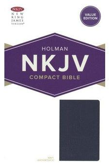 NKJV Compact Bible, Value Edition Navy Leathertouch 9781535925655