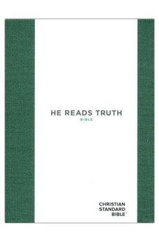 CSB He Reads Truth Bible, Evergreen Cloth Over Board