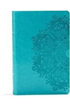 KJV Large Print Personal Size Reference Bible, Teal Leathertouch 9781535935678