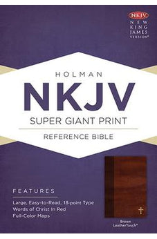 NKJV Super Giant Print Reference Bible Brown Leathertouch 9781535951470