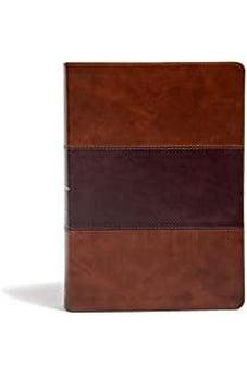 KJV Super Giant Print Reference Bible, Saddle Brown LeatherTouch 9781535954532