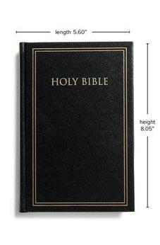 KJV Pew Bible, Black Hardcover 9781535961400