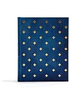 CSB Notetaking Bible, Navy/Cross Cloth-Over-Board 9781535970945