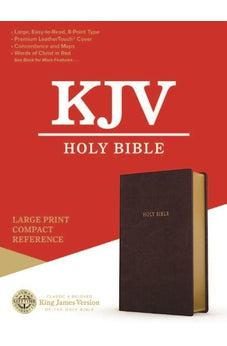 KJV Large Print Compact Reference Burgundy Leathertouch 9781535990608