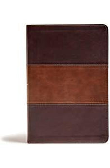 KJV Giant Print Reference Bible, Classic Mahogany LeatherTouch 9781535994224