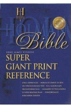 KJV Super Giant Print Reference Bible (Black Simulated Leather - Indexed) 9781558196353