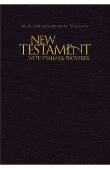 NIV, New Testament with Psalms and Proverbs, Paperback, Black 9781563206641
