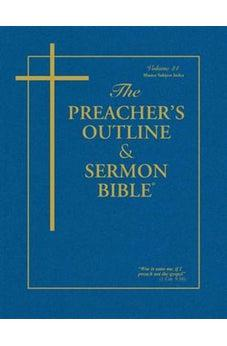 Image of The Preacher's Outline & Sermon Bible: Master Subject Index KJV 9781574070149