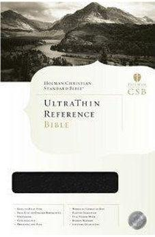 Bible HCSB Ultrathin Reference Black  Indexed 9781586401337
