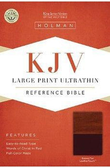 KJV Large Print Ultrathin Reference Bible, Brown/Tan LeatherTouch 9781586404192