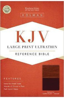 KJV Large Print Ultrathin Reference Bible, Brown/Tan LeatherTouch Indexed 9781586404208
