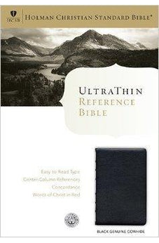 HCSB Ultrathin Reference Bible, Black Genuine Cowhide 9781586404314