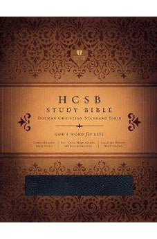 HCSB Study Bible, Black Bonded Leather Indexed 9781586405045
