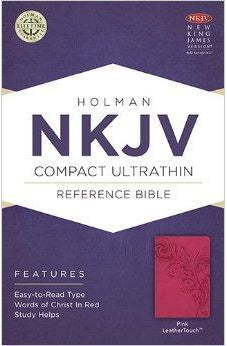 NKJV Compact Ultrathin Bible, Pink LeatherTouch 9781586406226